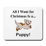 Christmas Puppy Mousepad