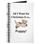 Christmas Puppy Journal