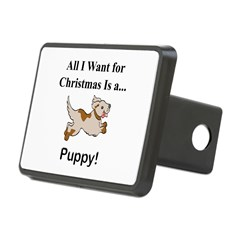 Christmas Puppy Hitch Cover
