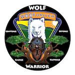 WolFWarrior TaeVerge Round Car Magnet