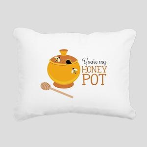 My Honey Pot Rectangular Canvas Pillow