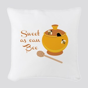 Sweet As Can Bee Woven Throw Pillow