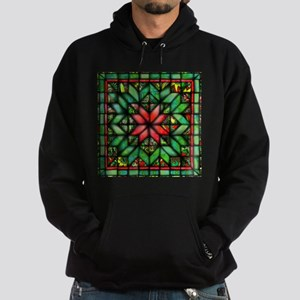 All-over Green Quilt Hoodie (dark)