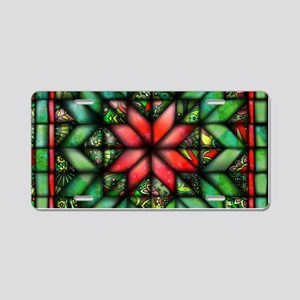 All-over Green Quilt Aluminum License Plate
