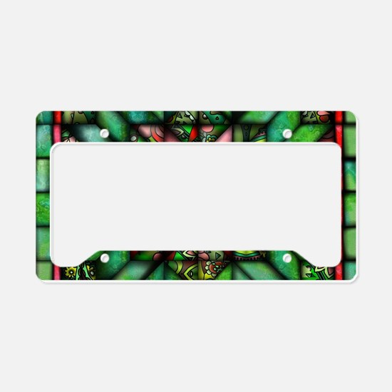 All-over Green Quilt License Plate Holder