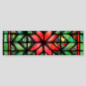 All-over Green Quilt Sticker (Bumper)