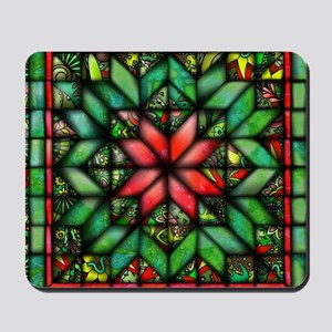 All-over Green Quilt Mousepad