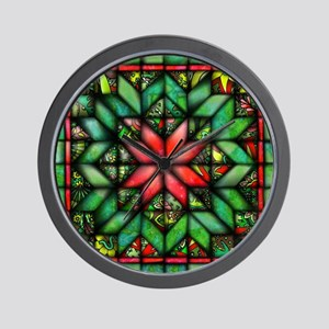 All-over Green Quilt Wall Clock