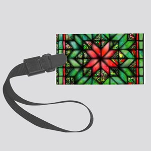 All-over Green Quilt Large Luggage Tag