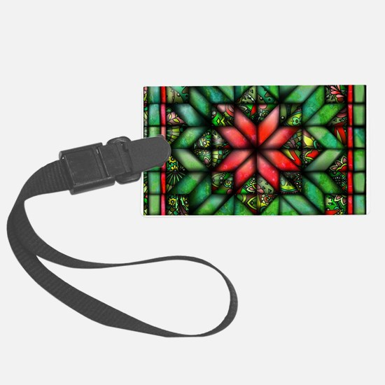All-over Green Quilt Luggage Tag