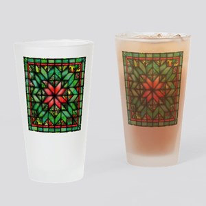 All-over Green Quilt Drinking Glass