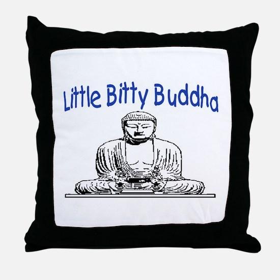 LITTLE BITTY BUDDHA Throw Pillow