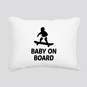 Baby On Board Pun Rectangular Canvas Pillow