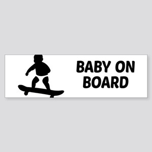 Baby On Board Pun Sticker (Bumper)