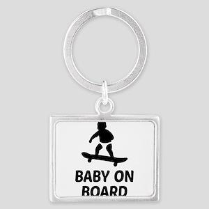 Baby On Board Pun Landscape Keychain