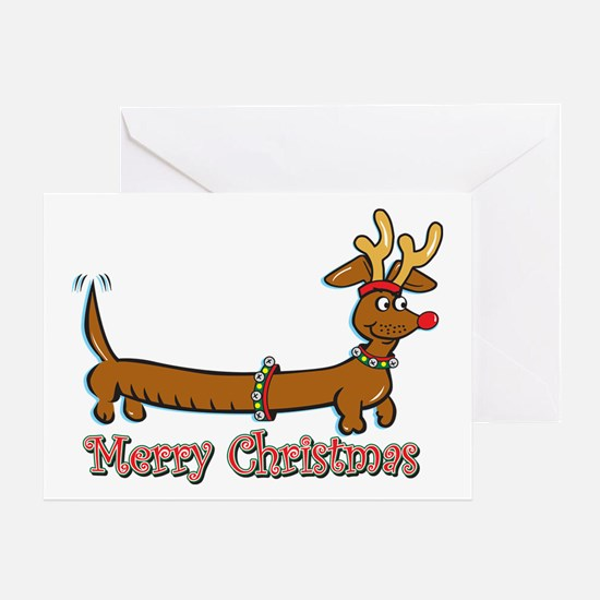 Merry Christmas Dachshund Greeting Cards