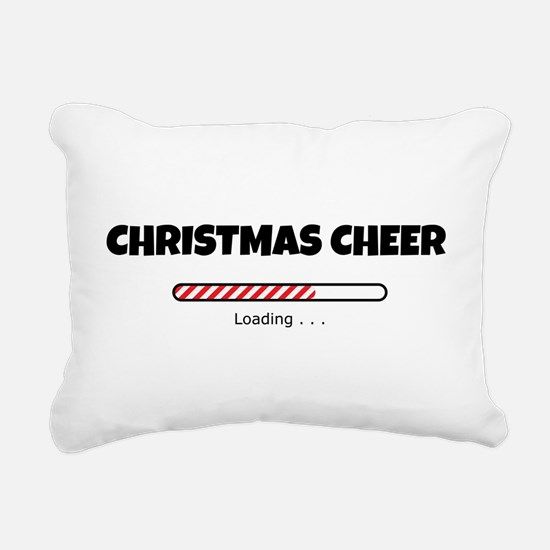 Christmas Cheer Loading Rectangular Canvas Pillow