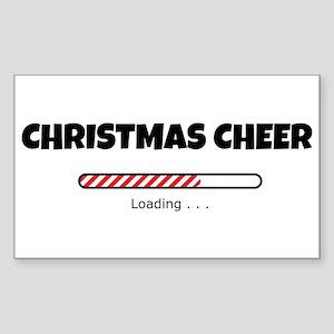 Christmas Cheer Loading Sticker (Rectangle)