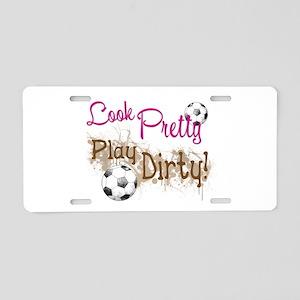 Dirty Soccer Aluminum License Plate