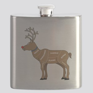 Rudolph - Reindeer Meat for Christmas Flask