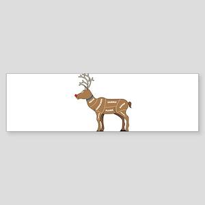 Rudolph - Reindeer Meat for Chris Sticker (Bumper)