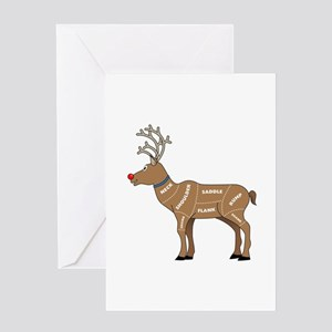 Rudolph - Reindeer Meat for Christma Greeting Card