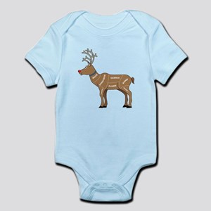 Rudolph - Reindeer Meat for Christ Infant Bodysuit