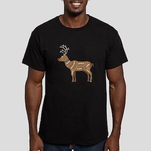Rudolph - Reindeer Mea Men's Fitted T-Shirt (dark)
