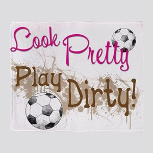 Dirty Soccer Throw Blanket