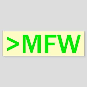 MFW Bumper Sticker
