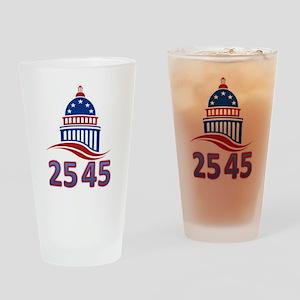 25th Amendment the 45th President Drinking Glass