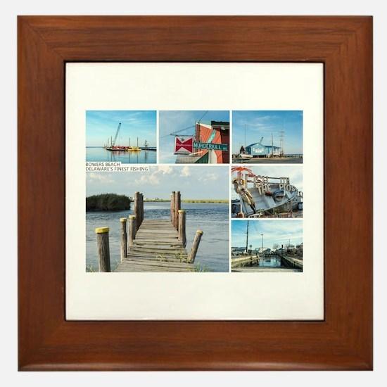 Bowers Beach - Delaware. Framed Tile