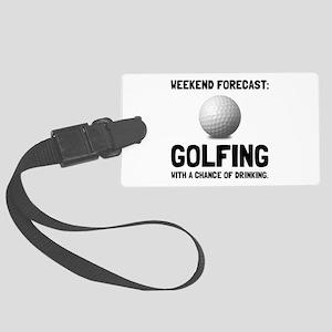 Weekend Forecast Golfing Luggage Tag