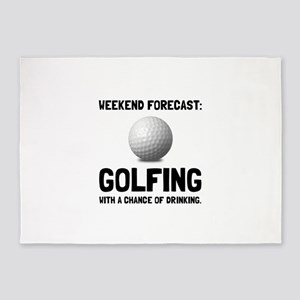 Weekend Forecast Golfing 5'x7'Area Rug