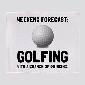 Weekend Forecast Golfing Throw Blanket