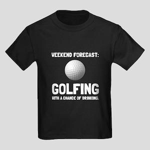 Weekend Forecast Golfing T-Shirt