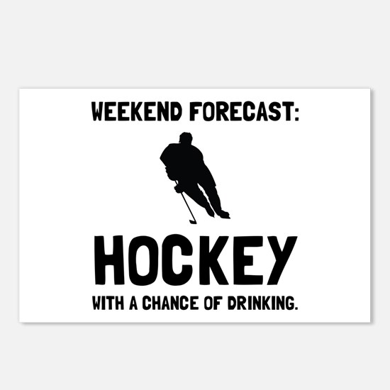 Weekend Forecast Hockey Postcards (Package of 8)