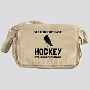 Weekend Forecast Hockey Messenger Bag