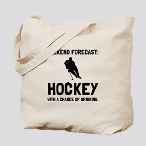 Weekend Forecast Hockey Tote Bag