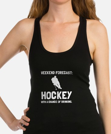 Weekend Forecast Hockey Racerback Tank Top