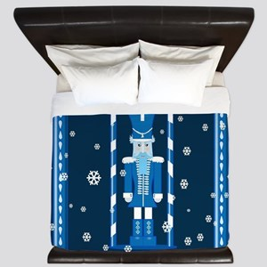 The Nutcracker Blue King Duvet