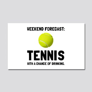 Weekend Forecast Tennis Car Magnet 20 x 12