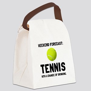 Weekend Forecast Tennis Canvas Lunch Bag