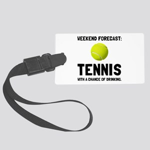 Weekend Forecast Tennis Luggage Tag