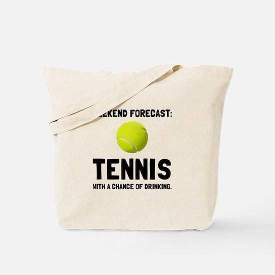 Weekend Forecast Tennis Tote Bag