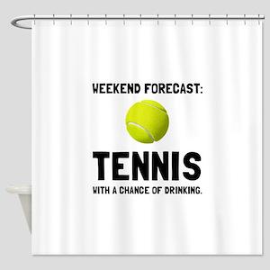 Weekend Forecast Tennis Shower Curtain