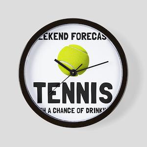 Weekend Forecast Tennis Wall Clock