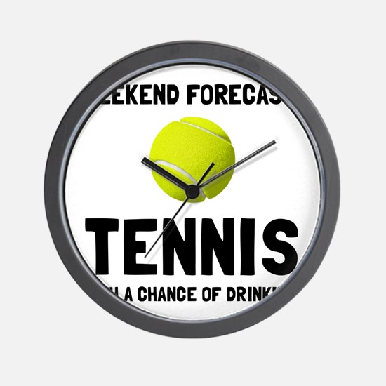 Weekend Forecast Tennis Wall Clock