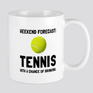 Weekend Forecast Tennis Mugs