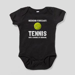 Weekend Forecast Tennis Baby Bodysuit